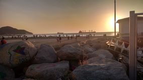 Пляж Santa Marta стоковое фото