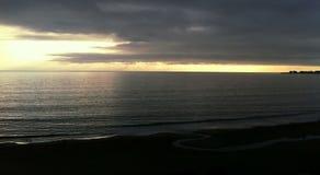 Пляж Seacliff в Aptos, CA стоковое фото rf