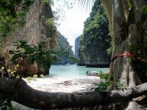 пляж secluded Таиланд Стоковые Изображения