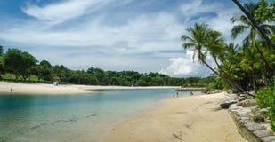 Пляж Sentosa в Сингапуре стоковое фото rf