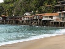 Пляж Sorocotuba в Guaruja, Бразилии стоковое фото rf
