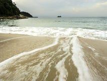 Пляж Sorocotuba в Guaruja, Бразилии Стоковое Изображение RF