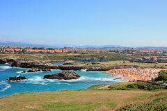 Пляж Soto de Ла Марины в Испании Стоковое фото RF