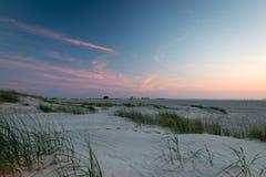 Пляж St Питера-Ording захода солнца Стоковое Фото
