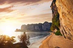Пляж Tonsai в Таиланде Стоковое Изображение RF