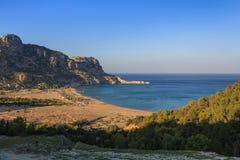Пляж Tsambika, Греция Стоковые Фото