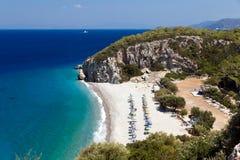 Пляж Tsambou Стоковые Изображения
