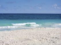 Пляж Tulum - Мексики стоковая фотография rf