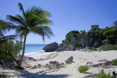 Пляж Tulum стоковое изображение rf