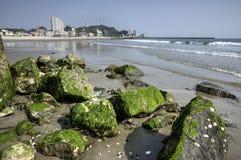 Пляж Utsumi, Япония Стоковые Изображения RF