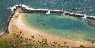 Пляж Waikik, Гонолулу Стоковое Изображение