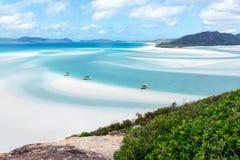 Пляж Whitehaven, остров Whitsunday, Австралия стоковые изображения