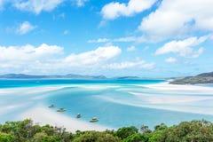 Пляж Whitehaven, остров Whitsunday, Австралия стоковое фото