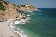 Пляж Xanemos, Skaithos стоковое фото rf