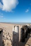 пляж zeeland Стоковая Фотография
