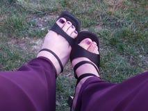 Пните вверх ваши ботинки Стоковые Изображения RF