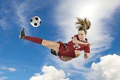 пните футбол стоковое фото rf