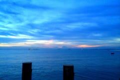 2 пня в море стоковые фотографии rf
