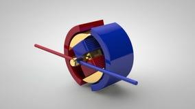 Побегите анимация с электрическим двигателем акции видеоматериалы