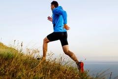 побегите вверх по осени горы Стоковое Фото