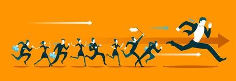 Побегите конкуренция Пойдите! иллюстрация вектора
