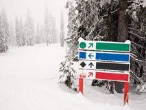 побегите лыжа знака Стоковое Изображение