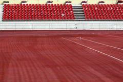Побегите след гонки в стадионе Стоковое Фото