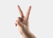 победа знака мира Стоковые Фотографии RF