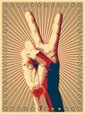 победа знака руки жеста Стоковые Изображения