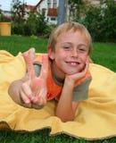 победа мальчика Стоковые Фотографии RF