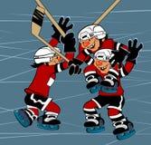 победа хоккея Стоковая Фотография