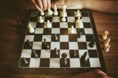 победитель белизны короля шахмат сражения Стоковая Фотография RF
