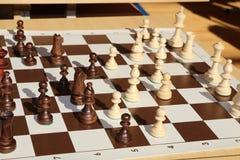 Победитель чашки золота Шахмат Король золота шахмат Игра шахмат тактическо бульвара Стоковая Фотография