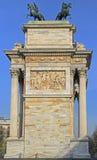 Побежка della Arco на piazze Sempione Стоковое фото RF
