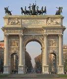 Побежка della Arco на piazze Sempione Стоковая Фотография RF