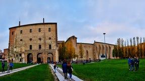 Побежка della Piazzale в центре Пармы, Италии Стоковая Фотография RF