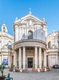 Побежка della Santa Maria, барочная церковь около аркады Navona, Рима Стоковое Изображение