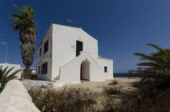 Побеленное среднеземноморское здание Стоковые Фотографии RF
