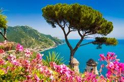 Побережье Амальфи, кампания, Италия Стоковое фото RF
