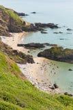 Побережье Англия Великобритания Корнуолла пляжа залива Whitsand Стоковое Изображение RF