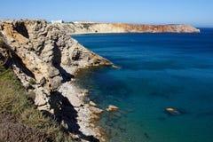 Побережье Алгарве Sagres, южная Португалия Стоковые Фото
