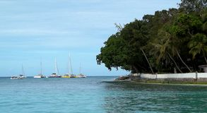 Побережье Барбадос Стоковое Изображение