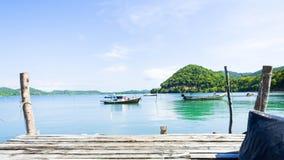 Побережье в деревне рыболова Koh yao yai стоковое изображение rf