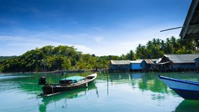 Побережье в деревне рыболова Koh yao yai стоковые фотографии rf