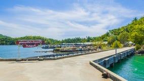 Побережье в koh yao yai деревни рыболова стоковое фото