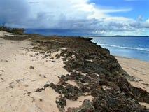 Побережье Индийского океана. Пляж. Индийский океан. Африка, Mozambi Стоковые Изображения