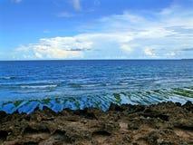 Побережье Индийского океана. Пляж. Индийский океан. Африка, Mozambi Стоковые Фотографии RF
