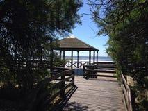 Побережье и пляж, Санта Teresita в Аргентине Стоковые Изображения RF