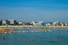 Побережье и пляж Cattolica стоковое изображение rf