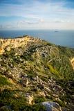 Побережье и скалы Мальты Стоковое Изображение RF